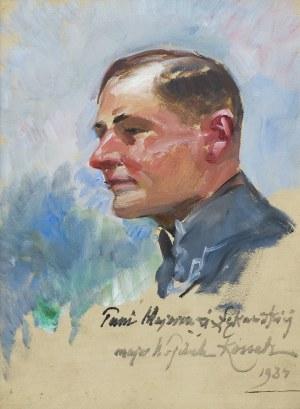 Kossak Wojciech, PORTRET PODPUŁKOWNIKA TADEUSZA ŁĘKAWSKIEGO,1934