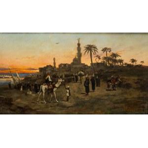 Tadeusz Ajdukiewicz (1852 Wieliczka - 1916 Kraków), Scena orientalna, 1879 r.