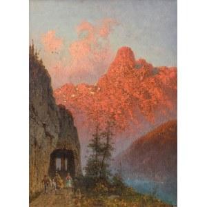 Aleksander Świeszewski (1839 Warszawa - 1895 Monachium), Rozżarzone Alpy, 1877 r.