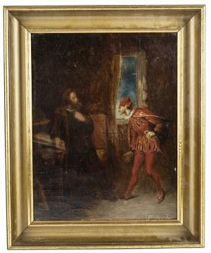 Gustaw Daniel Budkowski (1813-1884), Scena teatralna - Faust