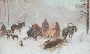 Ignacy Zygmuntowicz (1875 Warszawa-1947 Łódź), Po polowaniu