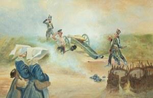 Wojciech Kossak (1856 Paryż - 1942 Kraków), Stanowisko artyleryjskie , 1902 r.