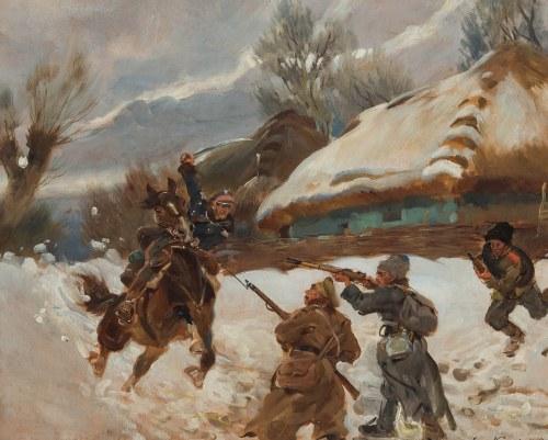 Jerzy Kossak (1886 Kraków - 1955 tamże), Atak na bolszewików, 1940 r. (?)