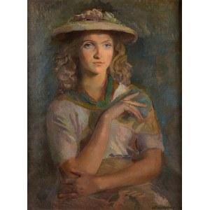 Antoni Michalak (1899 Kozłów Szlachecki - 1975 Kazimierz Dolny), Portret kobiety, 1949 r.