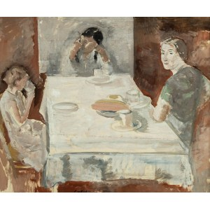 Leopold Gottlieb (1883 Drohobycz - 1934 Paryż), Kobiety przy stole