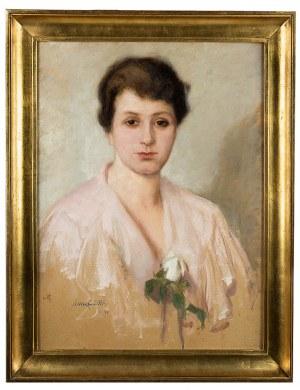 Alfons Karpiński (1875 Rozwadów - 1961 Kraków), Biała róża, 1920 r.