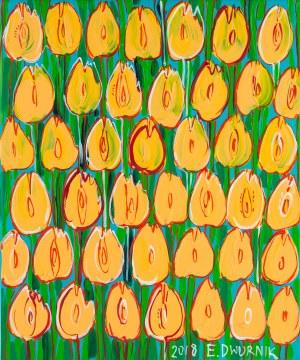 Edward Dwurnik (ur. 1943 Radzymin - 2018 Warszawa), Żółte tulipany nr: XXIII