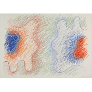 Wojciech Fangor (1922 Warszawa - 2015 tamże), Kompozycja abstrakcyjna, 1970 r.