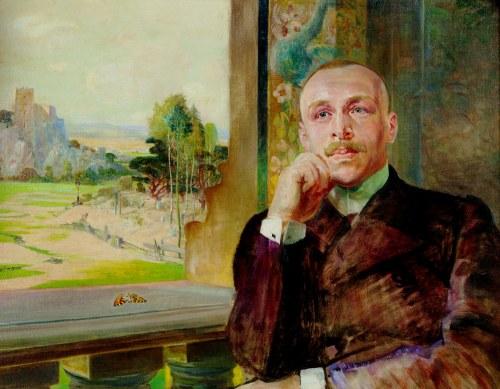 Jacek Malczewski (1854-1929), Portret Stefana Zborowskiego, aktora, reżysera, dyrektora teatru, ok. 1906