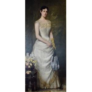 Kazimierz Pochwalski (1855-1940), Portret żony, 1888