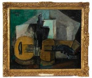 Alicja Halicka (1889-1974), Martwa natura z gitarą, 1914