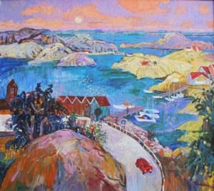 Jan Szancenbach (1928-1998), Port w Smogen, 1993