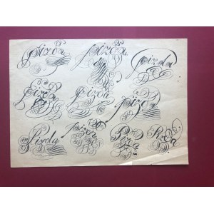 Franciszek Starowieyski - kaligrafia (niecenzuralnie)