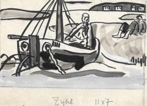 Lech Przybylski (ur.1929 r.), Stary człowiek i morze, 1955