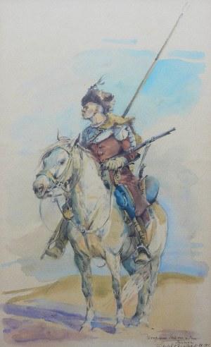 Tadeusz Kokietek (1920-1982), Lisowczyk na koniu