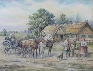 Karol Wierusz-Kowalski (1869 Warszawa - 1953 Poznań), Przed chałupą