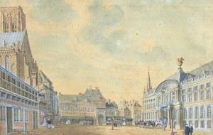Jan de Beijer (1703 Aarau/Szwajcaria-1780), Widok Liège, 1741