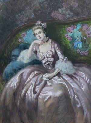 Józef Wodziński (1859 Korytnica - 1918), Portret damy