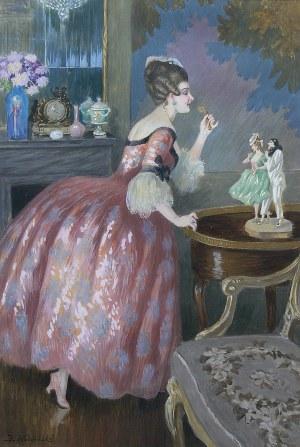 Józef Wodziński (1859 Korytnica - 1918), Dama w saloniku