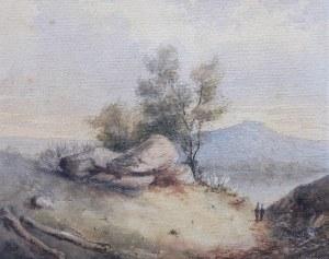 Artysta nieokreślony (XIX w.), Jeziorow górach, 1883 r.
