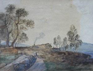 Artysta nieokreślony (XIX w.), Pejzaż z drogą