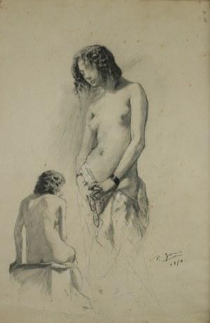 Pio Joris (1843 Rzym-1921 tamże), Studium kobiety, 1870