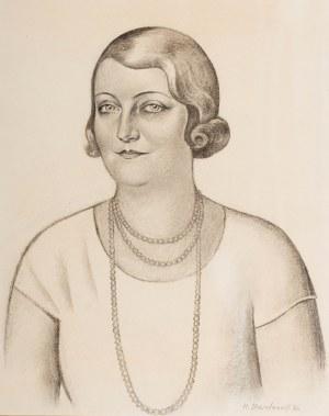 Henryk Berlewi (1894 Warszawa - 1967 Paryż), Portret młodej kobiety z perłami, 1931