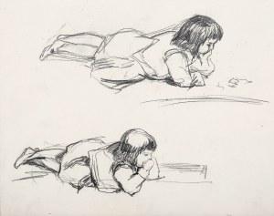 Antoni Gramatyka (1841 Kalwaria Zebrzydowska - 1922 Kraków), Studium leżącej dziewczynki