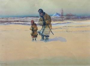 Artysta nieokreślony (1 poł. XX w.), Starzec z dziewczynką