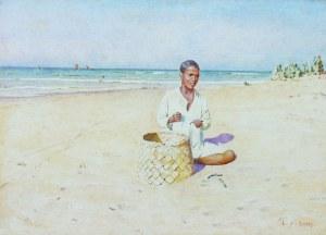 L. J. Scott (XIX/XX w.), Chłopiec na plaży