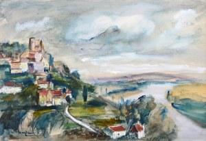 Henryk Hayden (1883 Warszawa - 1970 Paryż), Pejzaż z rzeką, l. 30.