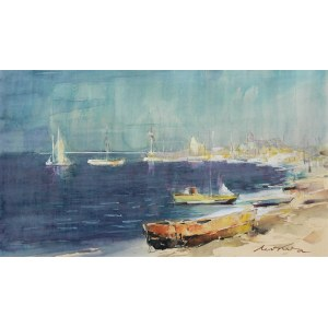 Marian Mokwa (1889 Malary - 1987 Sopot), Plaża w Pucku