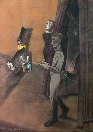 Jean Lambert-Rucki (1888 Kraków - 1967), Scena teatralna, 1944