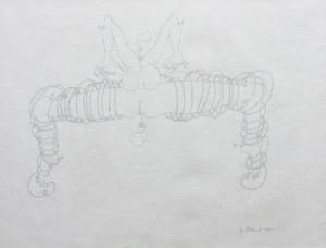 Jan Dobkowski (ur. 1942 Łomża), Kompozycja erotyczna, 1990