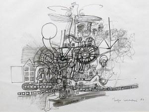Hugon Lasecki (ur. 1932 r. Grudziądz), Kompozycja z orłem I, 1982