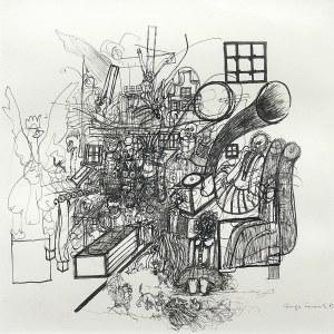 Hugon Lasecki (ur. 1932 r. Grudziądz), Kompozycja z orłem II, 1983