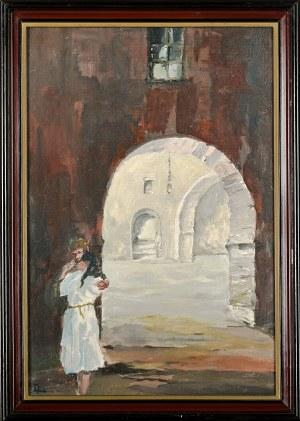 Konrad Waldemar WABERSICH (II poł. XX), Sień kamienicy sąsiadującej z Pałacem pod Baranami - Kraków (1991)