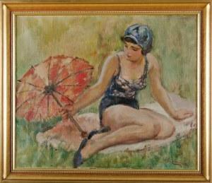 Stanisław ŻURAWSKI (1889-1976), Kobieta z parasolką