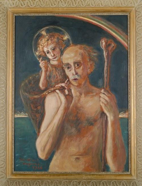 Wlastimil HOFMAN (1881-1970), Wędrówka życia - autoportret artysty (1966)