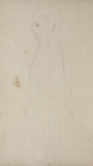 Jacek Malczewski (1854-1929), Studium postaci dziecka z lewego profilu