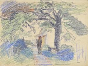 Wojciech Weiss (1875-1950), Ogród w Kalwarii, 1910