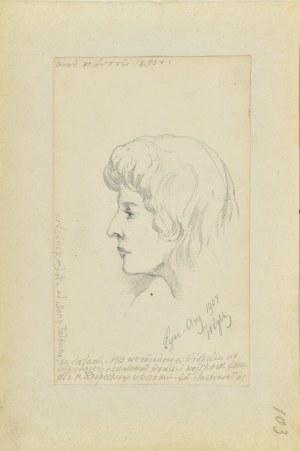 Tadeusz Rybkowski (1848-1926), Portret dziewczyny z profilu
