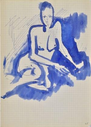 Jerzy Panek (1918-2001), Akt dziewczyny siedzącej