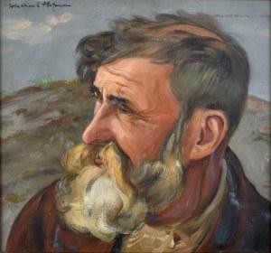 Wlastimil Hofman (1881-1970), Portret mężczyzny z brodą