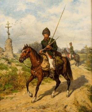 Ludwik Gędłek (1847-1904), Kozak na koniu