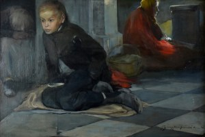 Ignacy Pieńkowski (1877-1948), Żebracy, 1898