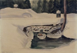Jerzy Kossak (1886-1955), Pogoń ułanów za bolszewikami, 1927