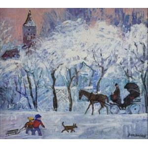 Jan Szancenbach (1928-1998), Planty w Krakowie zimą