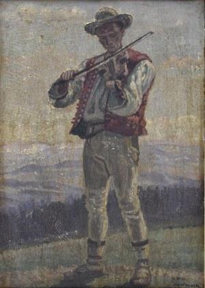 Jan Wałach (1884-1979), Skrzypek, 1961