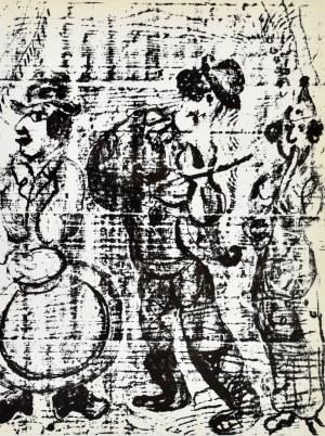 Marc Chagall (1887 - 1985), Wędrujący muzykanci
